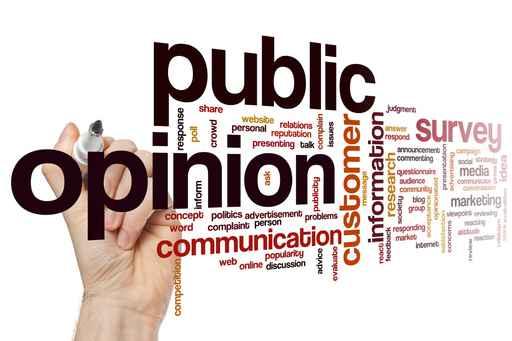 Public opinion word cloud