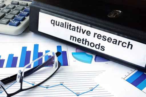 File folder with words   qualitative research methods